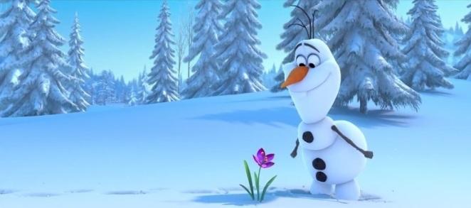Olaf_smiling_at_Flower